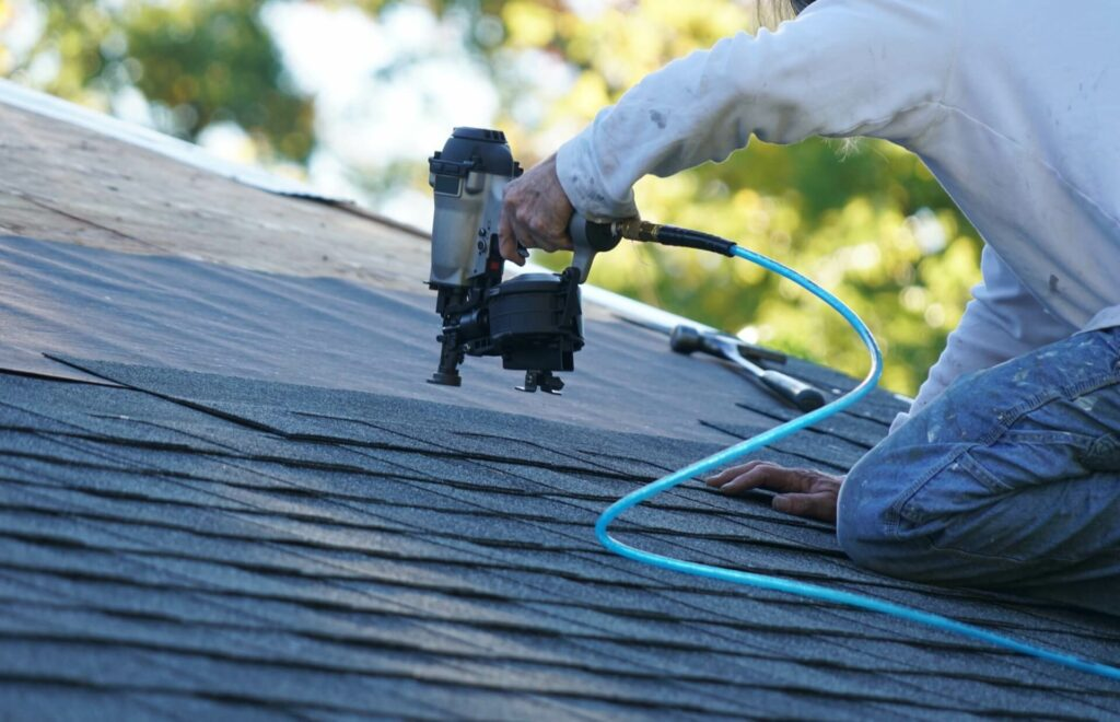 Residential Roofing Contractor Completing Roof Replacement In Southlake TX
