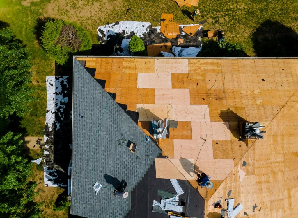 Roofers Installing New Roof On Home In Dallas-Fort Worth-Southlake